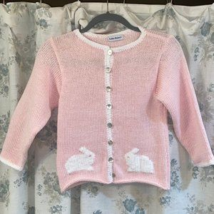 Pink sweater with bunnies